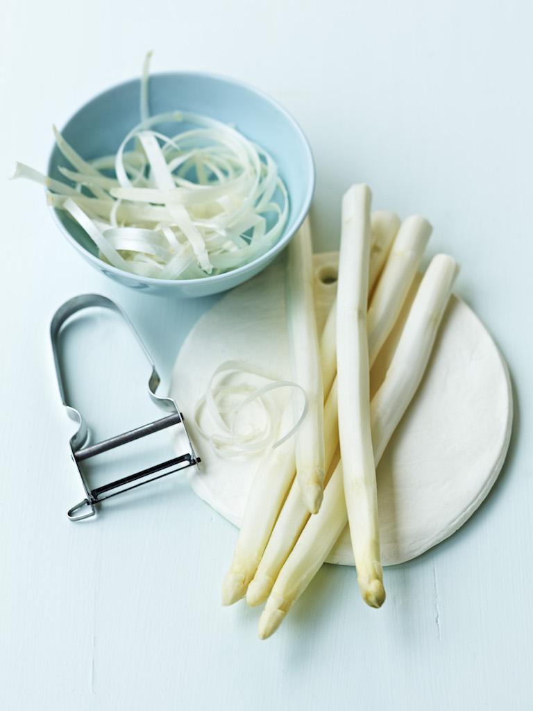 préparation asperges